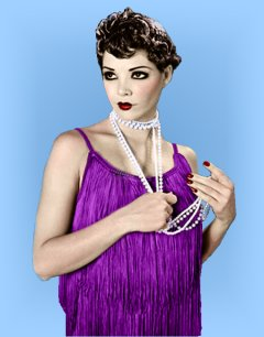 20s Fancy Dress - Mens Ladies 1920s Gangster Costume / Womens Flapper Dress: Flappers Dresses